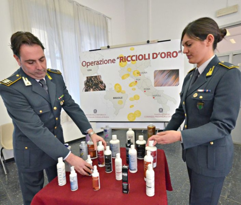 Policia italiana retira do mercado varias marcas de shampoo cancerígeno e outros cosméticos contendo substâncias cancerígenas